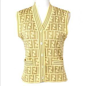 FENDI FF Monogamous Zucca Vest, Small